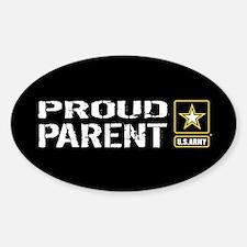 U.S. Army: Proud Parent (Black) Sticker (Oval)