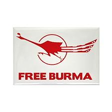 Cute Free burma Rectangle Magnet