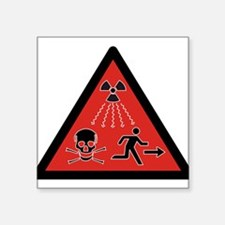 Radiation Hazard Rectangle Sticker