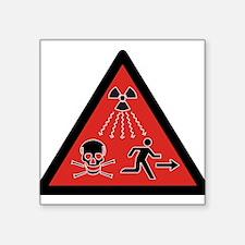 Radiation Hazard Rectangle Sticker