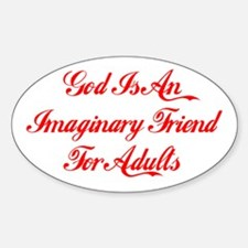 God Is Imaginary Oval Decal