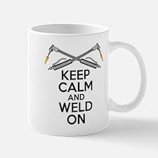 Welding Humor: Keep Calm and Weld On Mugs