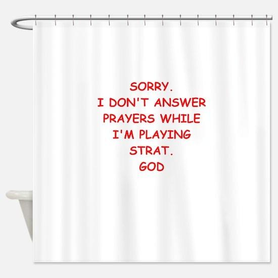 strat Shower Curtain