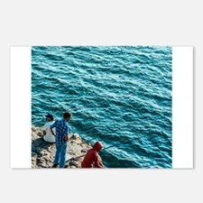 Fishing in the ocean - at Postcards (Package of 8)
