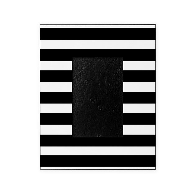 black and white stripe stripes strip Picture Frame by ...