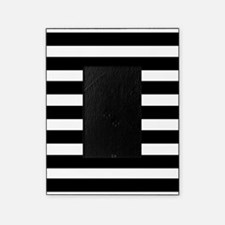 black and white stripe stripes strip Picture Frame