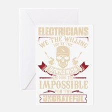 Unique Electrician Greeting Card
