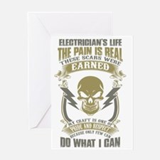 Cute Electrician Greeting Card