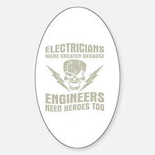 Cute Electrician Sticker (Oval)