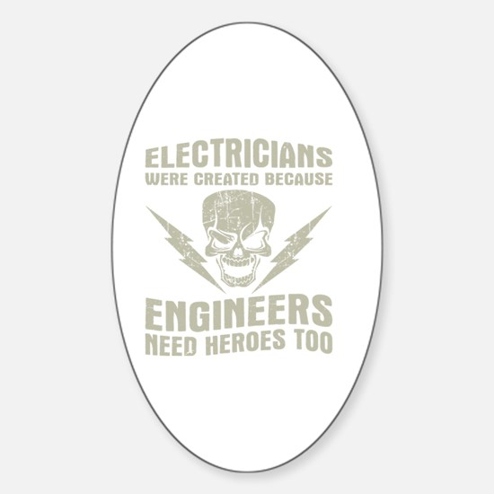 Cool Electrician Sticker (Oval)