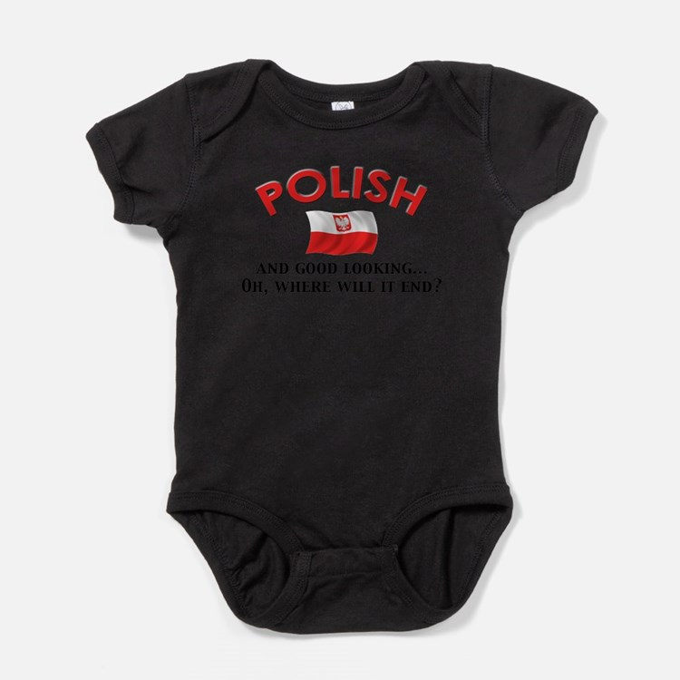 Cute Polish pride Baby Bodysuit