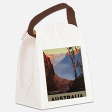 Funny Wpa travel vintage retro Canvas Lunch Bag
