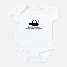 South Dakota Cow Tipping Infant Bodysuit