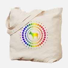 Goat Rainbow Studs Tote Bag