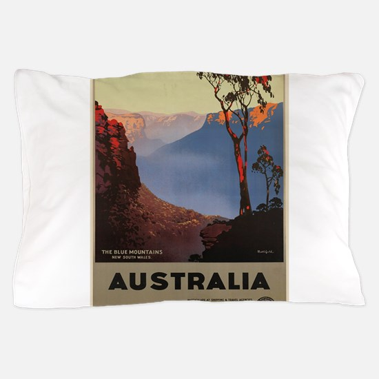Vintage poster - Australia Pillow Case