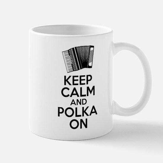 Keep Calm And Polka On Mugs