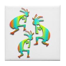 Three Kokopelli #24 Tile Coaster