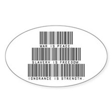 War is peace Oval Decal