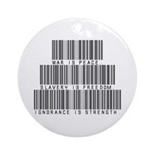 War is peace Ornament (Round)