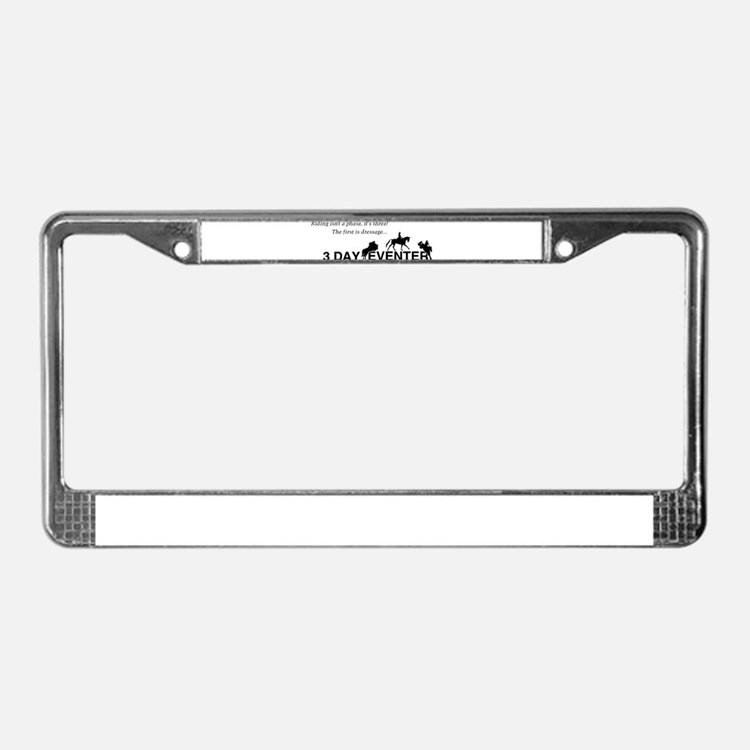 Cute Eventing License Plate Frame