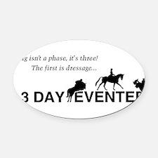 Funny Equine Oval Car Magnet