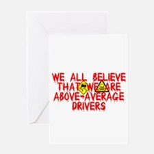 Above-Average Drivers Greeting Card