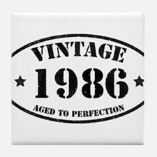 Vintage Aged to Perfection 1986 Tile Coaster