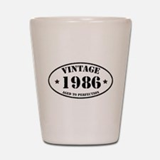 Vintage Aged to Perfection 1986 Shot Glass