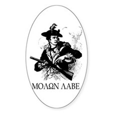 Molon Labe Minuteman Oval Decal