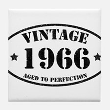 Vintage Aged to Perfection 1966 Tile Coaster