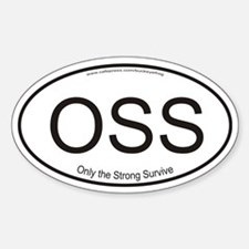"Oss ""Only The Strong Survive Decal"