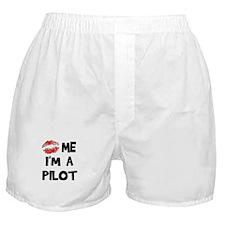 Kiss Me I'm A Pilot Boxer Shorts
