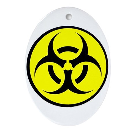 Biohazard Oval Ornament