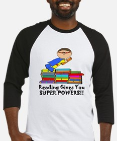 Reading Gives you Super Powers! Baseball Jersey