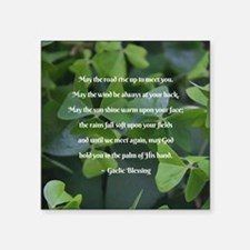 Shamrocks Gaelic Blessing Sticker