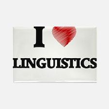 I Love Linguistics Magnets