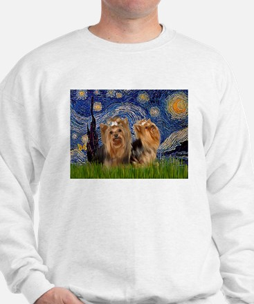 Starry Night & Yorkie Pair Sweatshirt