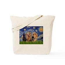 Starry Night & Yorkie Pair Tote Bag