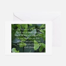 Shamrocks Gaelic Blessing Greeting Cards -20 Pack