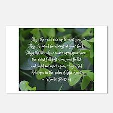 Shamrocks Gaelic Blessing Postcards (Package of 8)