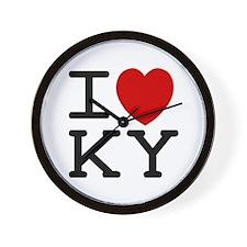 I heart KY Wall Clock