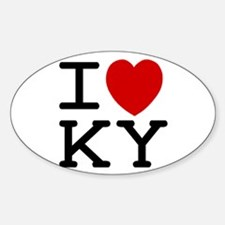 I heart KY Oval Decal
