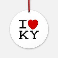 I heart KY Ornament (Round)