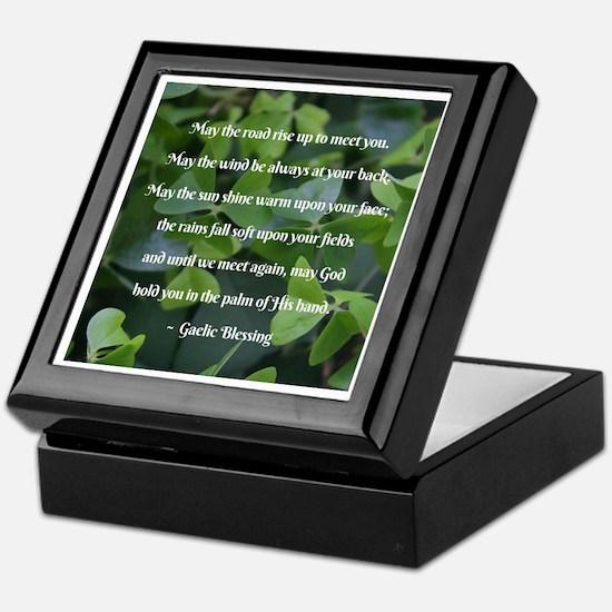 Shamrocks Gaelic Blessing Keepsake Box
