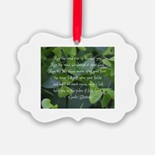 Shamrocks Gaelic Blessing Ornament