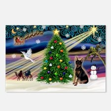 Xmas Magic / Min Pin (crpd) Postcards (Package of