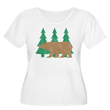 Vintage Bear Women's Plus Size Scoop Neck T-Shirt
