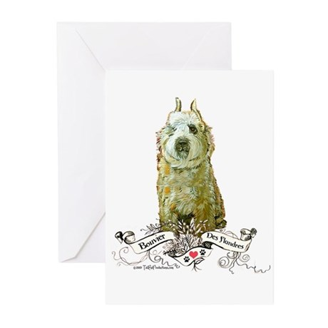 Bouvier des Flandres Fawn Greeting Cards (Pk of 10
