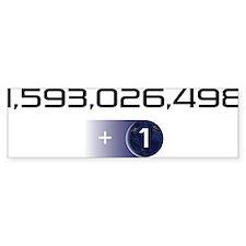 +1 on light color background Bumper Sticker