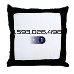 +1 on light color background Throw Pillow